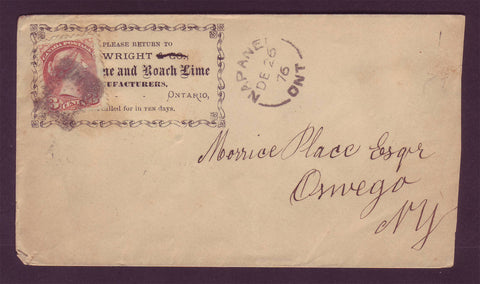CA5003 Canada Small Queen on Business Letter to the USA - 1876