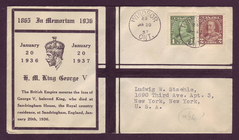 CA5015 Canada Memorial Cover 1 Year After the Death of King George V