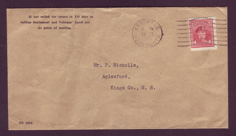 CA5016 Canada # O254 on Official Cover, 4¢ George VI - 1945