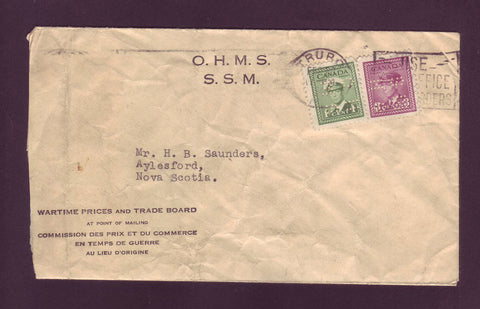 CA5017 Canada # O249, O252 War Issue on Official Cover - 1944