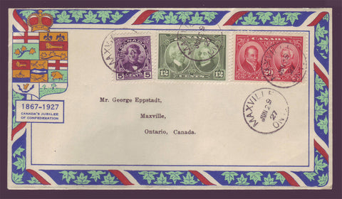 CAF0146-48 Canada Eppstadt FDC Scott # 146-48 Historical Issue 1927
