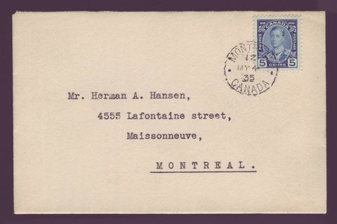 CAF0214 Canada FDC Scott # 214, 5¢ Prince of Wales 1935
