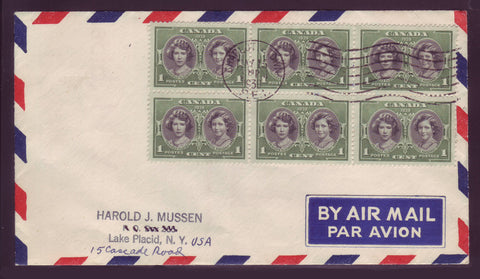 Portraits of elozabeth and margaret on 1939 First Day Cover