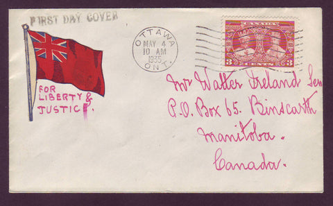 Canada FDC Scott # 213.02 - 3¢ George V and Queen Mary 1935 (Ottawa)
