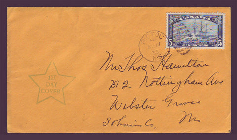 Canada FDC Scott # 204.03 - 5¢ Royal William 1933 (Pictou)
