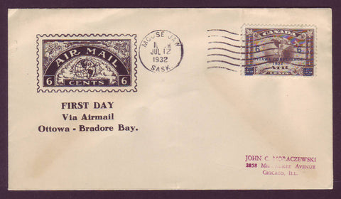 Canada FDC Scott # C4.12,  6¢ Ottawa Conference 1932 Roessler cover