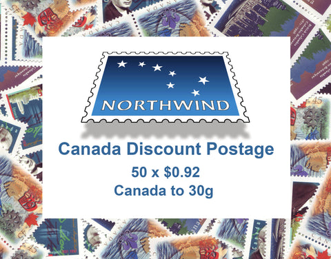CA000A  Canadian Discount Postage.  Cheap Stamps for Your Letter Mail. 50 x 0.92