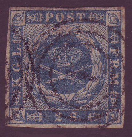 DE00035 Denmark Scott # 3 VF - 1855