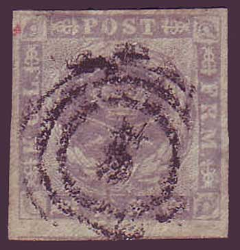 DE0006.25 Denmark Scott # 6 VF - 1857