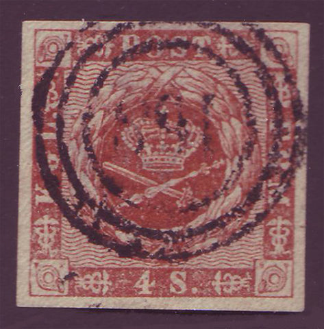 DE0007.25 Denmark Scott # 7 VF