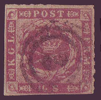 DE00105 Denmark Scott # 10 VF - 1863