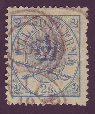 DE00115 Denmark Scott # 11 VF - 1865