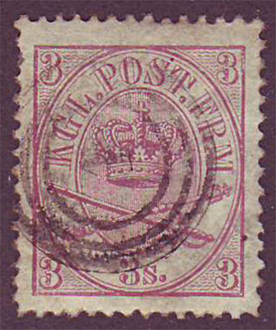 DE0012.15 Denmark Scott # 12 VF - 1865