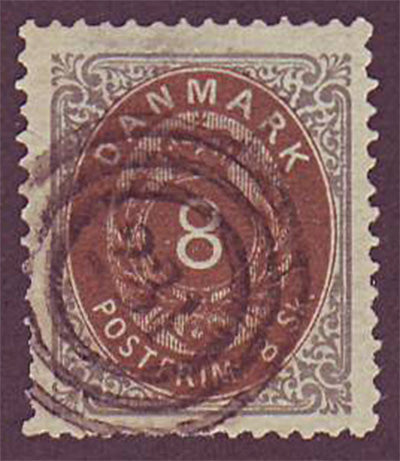 DE0019.15 Denmark Scott # 19 VF - 1871