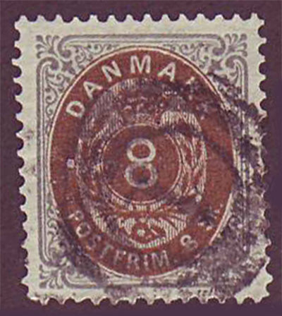 DE00195 Denmark Scott # 19 VF - 1871