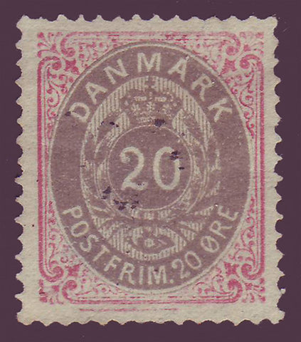 DE00312 Denmark Scott # 31 VF unused NG - 1875