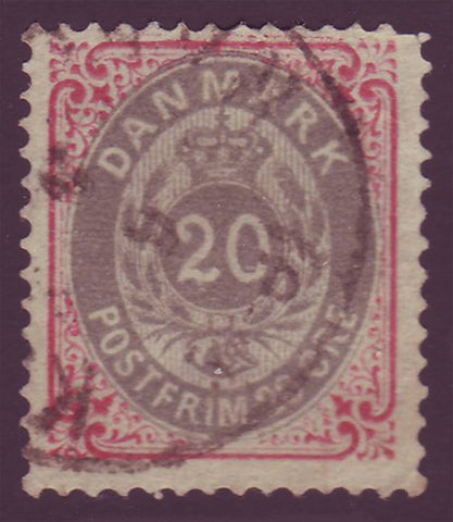 DE0031b5 Denmark Scott # 31b F Used - 1875