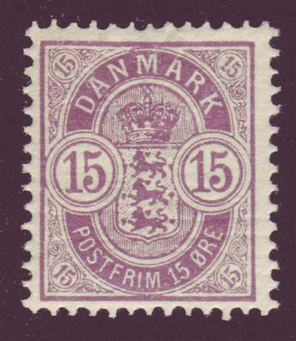 DE0054 Denmark Scott # 54 F-VF MNH** Coat of Arms 1902