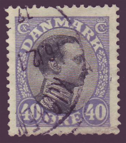 DE01175 Denmark Scott # 117 VF. Christian X 1913-28