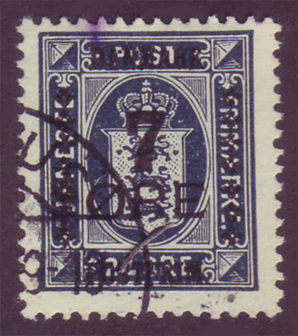 DE01915 Denmark Scott # 191 F-VF Used.  Official Stamps Overprinted 1926-27