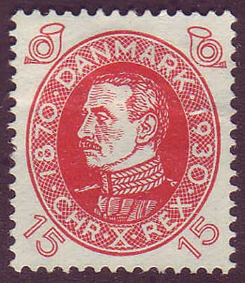 DE02142 Denmark Scott # 214 VF MH, Christian X series 1930