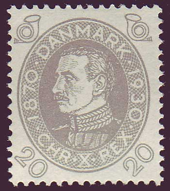 DE02152 Denmark Scott # 215 VF MH, Christian X series 1930