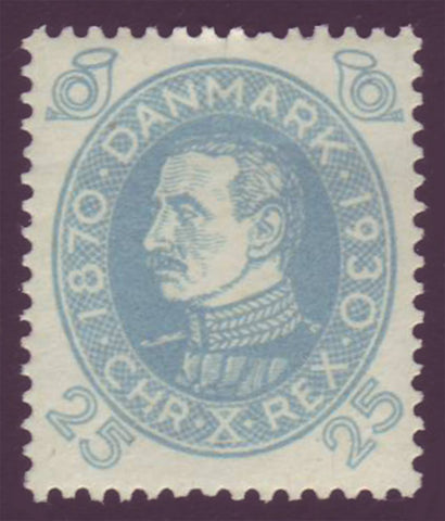 DE02162 Denmark Scott # 216 VF MH, Christian X series 1930