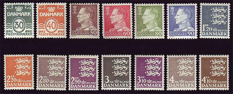 DE0437-44D2 Denmark Scott # 437-44D2 MH, Definitives 1967-71
