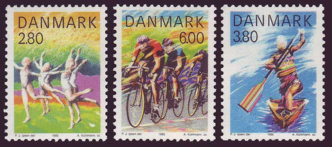 DE0780-821 Denmark Scott # 780-82 MNH,  Sports 1985
