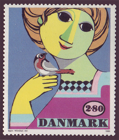DE07891 Denmark Scott # 789 MNH, Art 1986