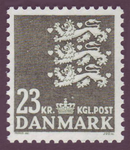 DE08131 Denmark Scott # 813 MNH,  Small State Seal 1986