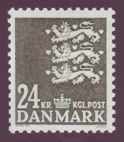 DE08141 Denmark Scott # 814 MNH, Small State Seal 1986
