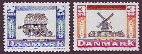 DE0861-621 Denmark Scott # 861-62 MNH, Wind and Water Mills 1988