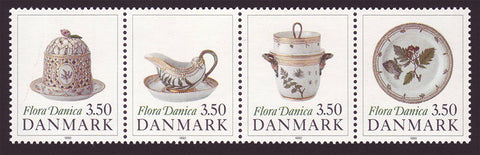 DE0919b Denmark Scott # 916-19 MNH, Antique Porcelain 1990