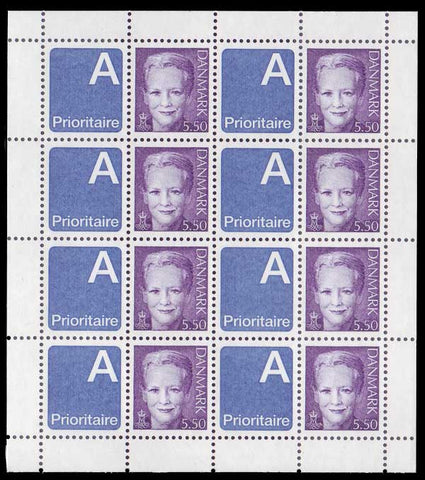 DE1124b1 Denmark Scott # 1124b Sheet of 8 MNH, Queen Margrethe 2003