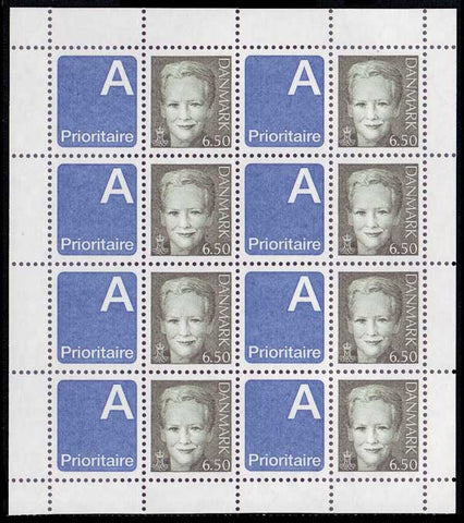 DE1129a1 Denmark Scott # 1129a Sheet of 8 MNH, Queen Margrethe 2003