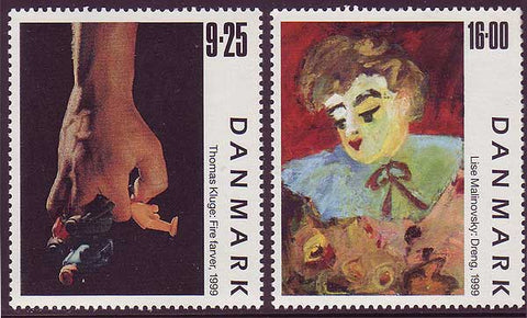 DE1160-611 Denmark Scott # 1160-61 MNH, Contemporary Art 1999