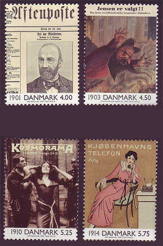 DE1169-721 Denmark Scott # 1169-72  MNH, The 20th Century - Part I