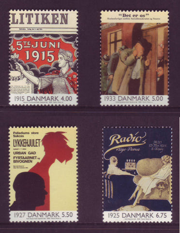 DE1173-761 Denmark Scott # 1173-76  MNH, The 20th Century - Part II
