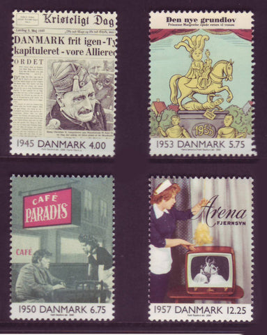 DE1177-801 Denmark Scott # 1177-80  MNH, The 20th Century - Part III