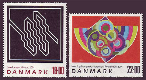 DE1204-051 Denmark Scott # 1204-05  MNH, Contemporary Art 2001