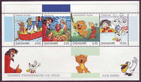 DE1221a5 Denmark Scott # 1221a VF MNH, Comics and Cartoons 2002