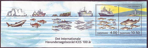 DE1238a Denmark Scott # 1237-38 MNH, Exploration of the Seas 2002