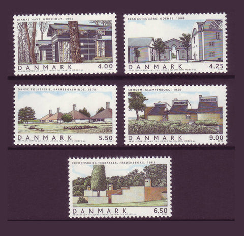 DE1239-43 Denmark Scott # 1239-43 MNH, Danish House Architecture 2002