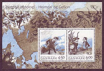 DE1274a1 Denmark Scott # 1274a VF MNH, Nordic Mythology 2004