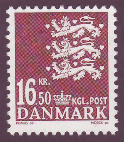 DE1309 Denmark Scott # 1309 MNH, 16.50kr Small State Seal 2005