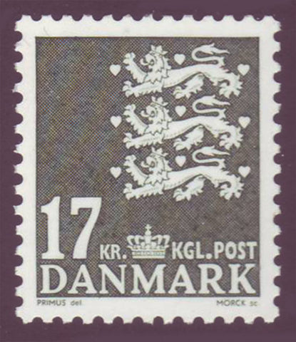 DE1310 Denmark Scott # 1310 MNH, 17kr Small State Seal 2006