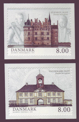 DE1639-401 Denmark Scott # 1639-40 MNH, Manor Houses 2013