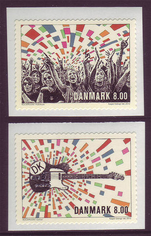 DE1645-461 Denmark Scott # 1645-46 MNH, Danish Rock Music 2013