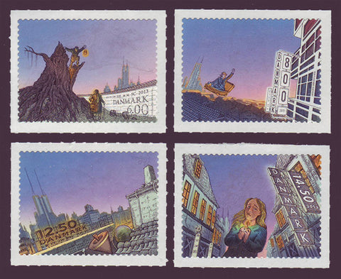 DE1653-561 Denmark Scott # 1653-56 MNH, Hans Christian Andersen Stories 2013